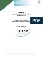 Unidad 1. Metricas de Desarrollo de Software PSP