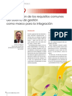 PAS 99 Especificación de Los Requisitos Comunes Del Sistema de Gestión Como Marco Para La Integración