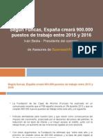 Según Funcas España creará 900 mil empleos en 2015 y 2016