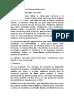 I. Antecedentes Del Derecho Mercantil