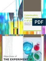 Colorimetric Determination of PH