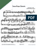 Ives - 3 Page Sonata