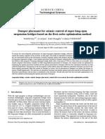 Damper Placement for Seismic Control of Super-long-span Suspension Bridges Based on the First-Order Optimization Method