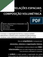 Relacoes Espaciais e Composicoes Volumetricas