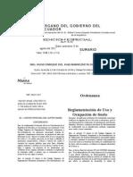 Reglamentación de Uso y Ocupación Del Suelo de Ibarra