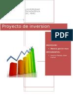 Caratula de Proyectos de Inversion