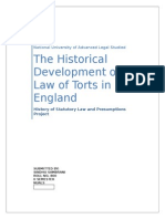 Development of Law of Torts in England