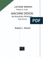 Solution manual for machine design (Norton 3e)  -Person Prentice Hall (2006)