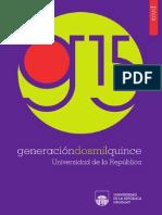 Generación 2015. Universidad de la República