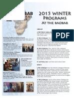 2015 Baobab Winter Program