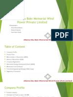 Allama Abu Bakr Wind Power Company