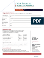 2015 NEHCC Registration Form Only