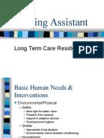 Nursing Assistant - Long-Term Care Resident