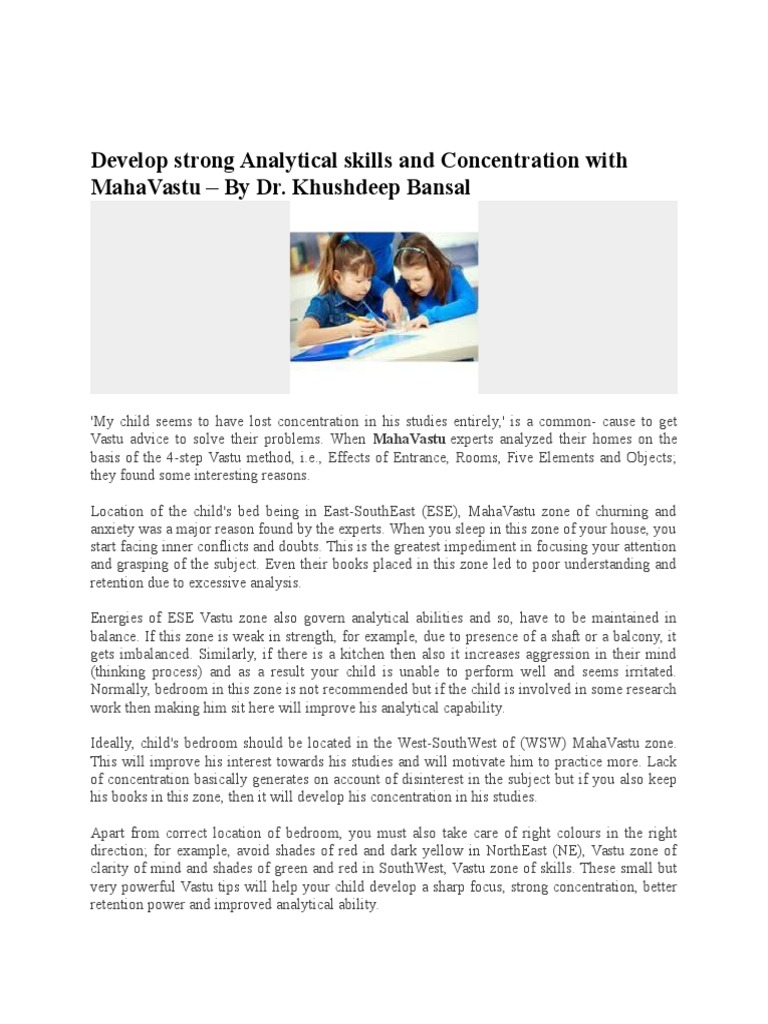 develop strong analytical skills and concentration with mahavastu - Analytical Skills Example What Are Analytical Skills And How To Improve Them