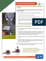 Las Garrapatas y La Enfermedad de Lyme Cómo Prevenir Picaduras de Garrapatas Al Trabajar Al Aire Libre