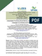 A Identidade Fronteiriça Brasil Bolívia Um Estudo Sobre Linguagem Na Literatura de Fronteira Brasil