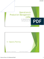 OPM Topic 3 Capacity