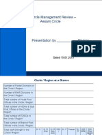 Circle Performance Review Template for Presentation