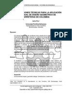 Recomendaciones Técnicas Para La Aplicación Del Manual de Diseño Geometrico de Carreteras de Colombiaapuntes