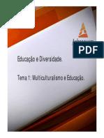 Educação e Diversidade Tema 1