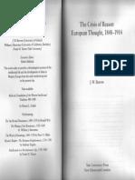 BURROW Crisis of Reason. European Thought 1848 1914