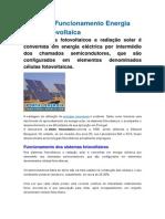 Teoria de Funcionamento Energia Solar Fotovoltaica