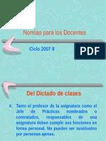 Normas Para Los Docentes PP