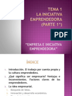 Tema 1 La Iniciativa Emprendedora Parte 1a