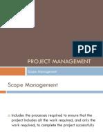 5 - PM - Scope Management