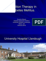 Nutrition Therapy in Diabetes Mellitus