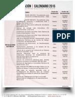 Calendario Capacitación Ance 2015