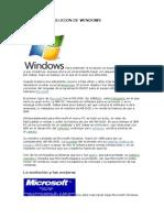 Historia y Evolucion de Windows