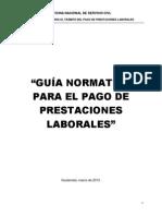 26 Guia Normativa Para El Pago de Prestaciones Laborales