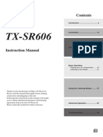 TX-sr606 Manual e