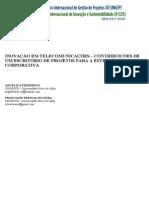 NOVAÇÃO EM TELECOMUNICAÇÕES CONTRIBUIÇÕES Em Telecomunicações Contribuições De