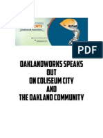 OaklandWORKS speaks out on Coliseum City and the Oakland Community