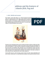 Customs, Traditions and the Features of the Adriatic Islands (Krk, Pag and Murter)