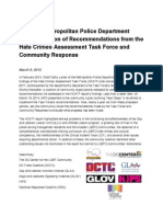 Mpd Recommendation Report Card 2015