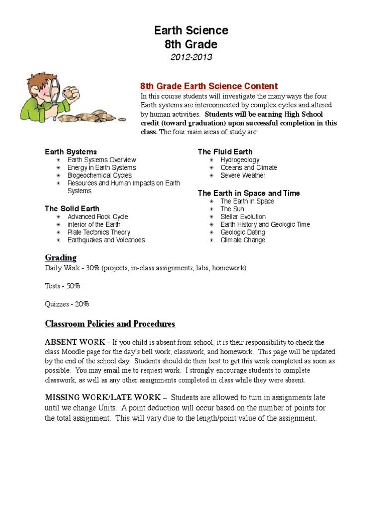8th Grade Science Parent Letter 14