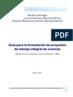 Guia Formulacion de Proyectos de Manejo Integral de Cuencas