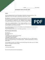 L'Oreal Internship Application Form