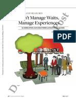 Don't Manage Waits, Manage Experiences