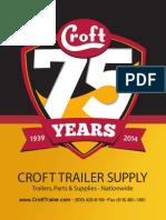 Croft Trailer Supply Catalog 2014