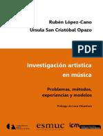 RUBEN LOPEZ CANO- Investigacion Artistica en Musica