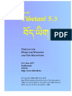 Tibetan! 5.3 for Word Manual