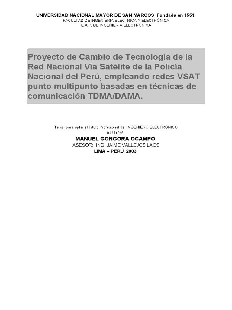 Proyecto de Cambio de Tecnologia de La Red Nacional via Satelite de ...