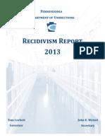 2013 PA DOC Recidivism Report