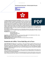 Pérez Lazo, Reynaldo - Alianza Popular Revolucionaria Americana