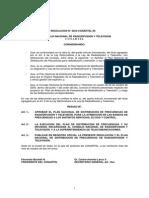 Plan Nacional de Ditribución de Frcuencias de Radio y Televisión