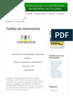 Tarifas de Honorarios | 2013 © Conalbos
